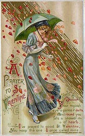 Vintage-valentines-day-card-a-prayer-to-st-valentine-raining-red-hearts