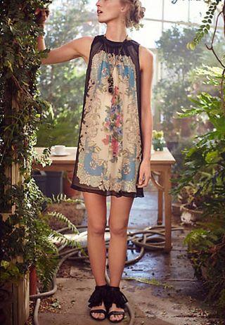 Anthro Black Garden Dress 2