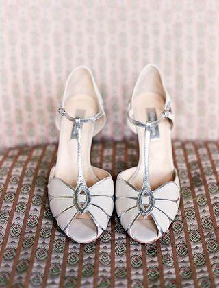 Cream + Silver Shoes